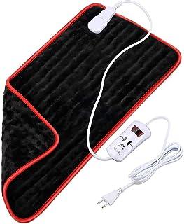 Misiki Almohadilla Eléctrica Térmica Almohadilla de Calor con Apagado Automático para Espalda Hombro Cuello Vertebra Cervical, Tamaño Grande 30 x 60cm Manta Electrica