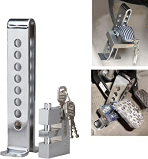 Honhill Universal Auto 8 Holes Pedal Security Tool Anti-Thief Device Stainless Steel Clutch Lock Car Brake Lock