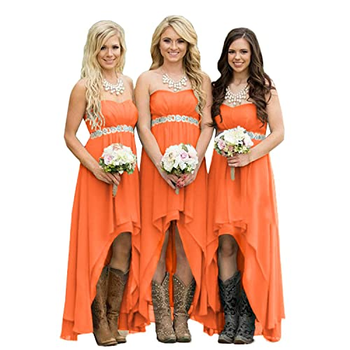 37dbe019d0 Orange Bridesmaid Dresses: Amazon.com