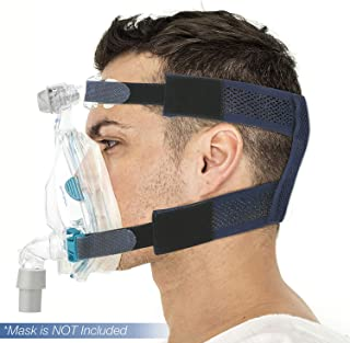 SUPOTTO-BELT CPAP BELT Breathable & No Slip Mesh Replacement Straps   Durable & Compact Sleeping Headgear   Easy to Wear & Leaves No Marks   Designed & Made in Japan   Medium 54-59cm{not included mask