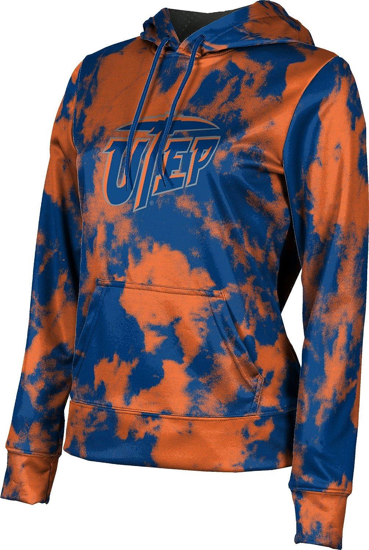 ProSphere The University of Texas at El Paso Girls' Pullover Hoodie, School Spirit Sweatshirt (Grunge)