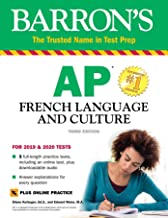 AP French Language and Culture with Online Test & Downloadable Audio (Barron's Test Prep) (French Edition)