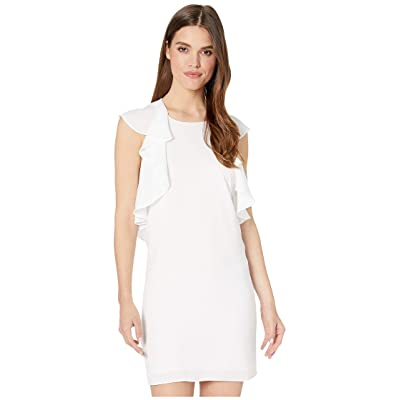 BCBGMAXAZRIA Day Short Woven Dress (Optic White Combo) Women