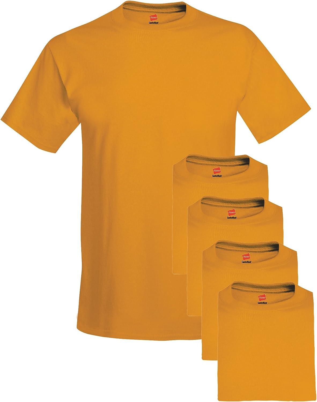 Pack of Five Hanes Mens Big Crew T-Shirts
