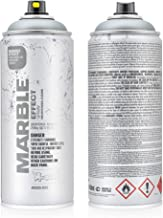 Montana Cans MXE-MSILVER Montana Effect 400 ml Marble Color, Silver Spray Paint,