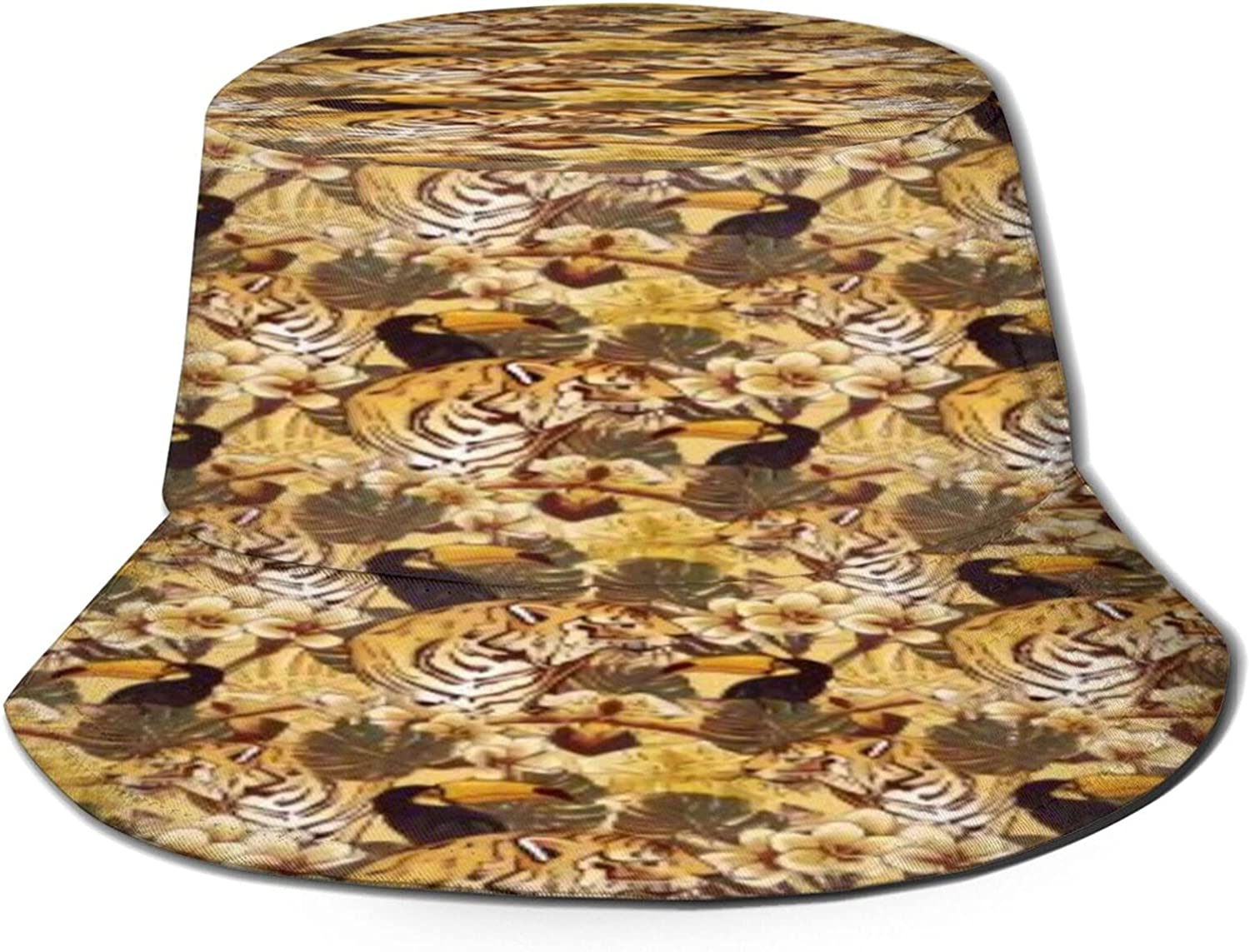 Tiger Free shipping / New and Toucan Bucket Hat Fishe Sun Unisex Packable Summer Tulsa Mall