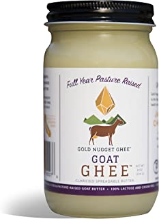 GOAT GHEE BY GOLD NUGGET GHEE, FULL YEAR PASTURE RAISED, GRASS-FED, KETO PALEO 8oz