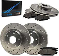 Max Brakes Premium OE Rotors with Carbon Ceramic Pads KT008643 Front + Rear