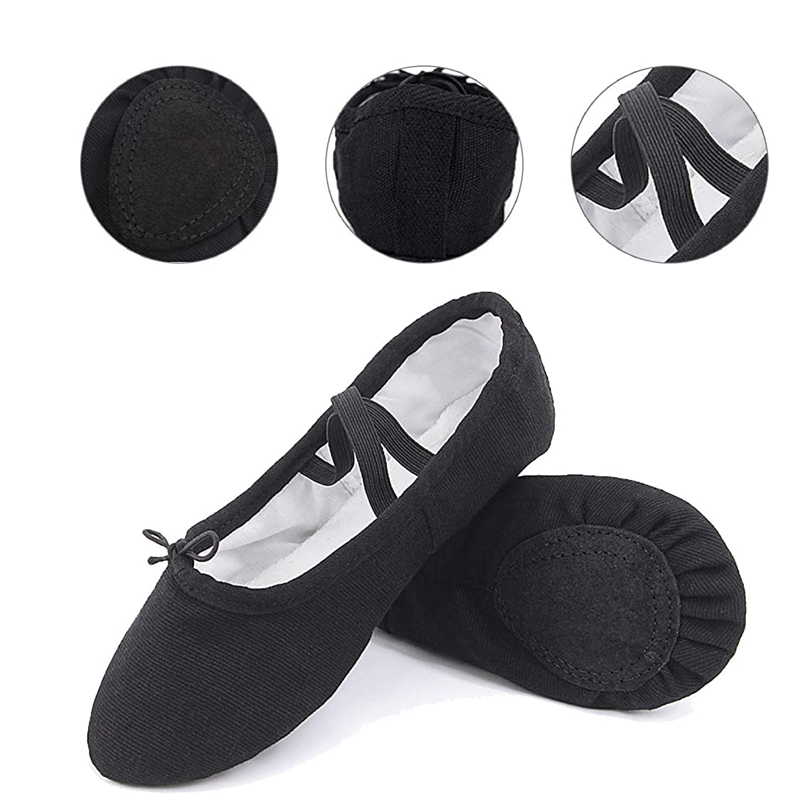 Matie Fix Ballet Shoes Girls Canvas Ballet Slipper/Ballet Shoe/Yoga Dance Shoe