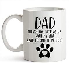 YouNique Designs Dog Dad Mug, 11 Ounces, White, Dog Dad Gifts