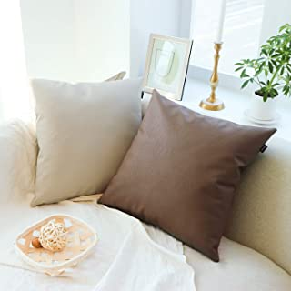 Letheco Pack of 2 Decorative ThrowPillow Covers 18x18