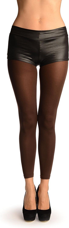 Brown 120 Denier (Winter) Footless Pantyhose (Tights) - Brown Pantyhose (Tights) Footless