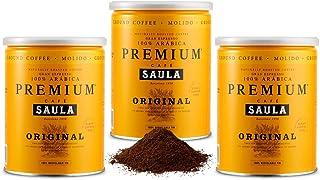 Café Saula, Pack 3 botes de 250 gr. Premium Original 100%