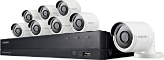 SDH-C84080BF - Samsung Wisenet All-in-One 8 Channel 4 MP Security System with 2TB Hard Drive, 8 Super HD Bullet Cameras, and 82' Night Vision
