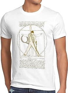 style3, Freddie de Vitruvio Camiseta para Hombre T-Shirt da Vinci Live Rock You Festival