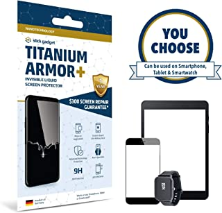 Slick Gadget Screen Protector Liquid Glass | $100 Screen Replacement Guarantee | Protects Phones, Tablets & Smartwatches | Only Certified Product on Amazon