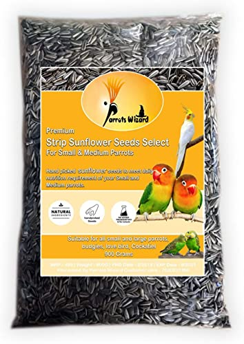 Parrots Wizard Small Size Sunflower Seeds for Bird 900 G