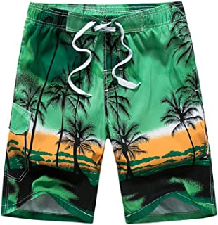 Gymleader Men's Swim Trunks Quick Dry Shorts with Mesh Lining Athletic Gym Running Shorts for Men Hawaiian Boardshorts