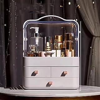 Makeup Box Fashion Tre-Layer Högkapacitet Transparent bärbar kosmetisk arrangör Plastlådor Läppstift Nagellacklagring (Col...