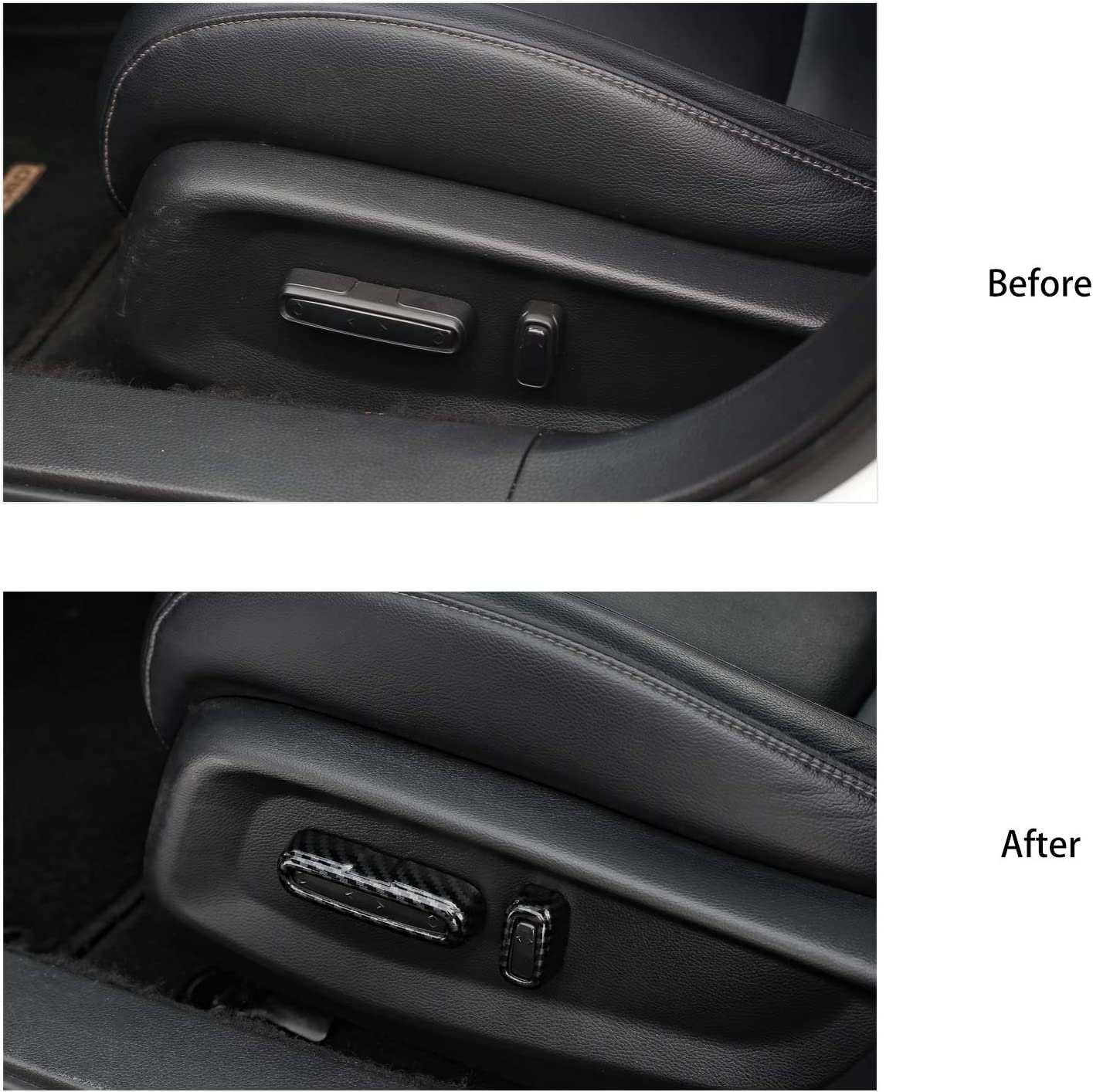 Thenice for 10th Gen Accord Seat Adjust Button Cover Seats Power-adjustability Switch Trims Interior Decal for Honda Accord 2020 2019 2018 Red