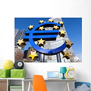 Wallmonkeys Euro Sign Frankfurt Am Wall Mural Peel and Stick Graphic (72 in W x 48 in H) WM362504