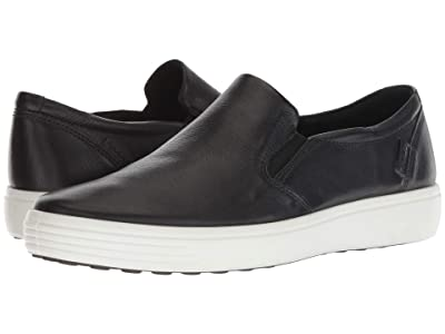 ECCO Soft 7 Casual Loafer (Black Cow Leather) Men