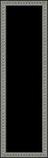 2x8 Runner Rug Modern Greek Key Design Hallway Solid Black Size 2'x7'2