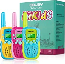 Obuby Walkie Talkies for Kids, 22 Channels 2 Way Radio Kid Gift Toy 3 KMs Long Range with..