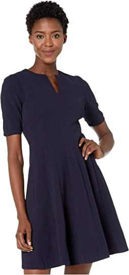 Metro Knit Fit and Flare Dress