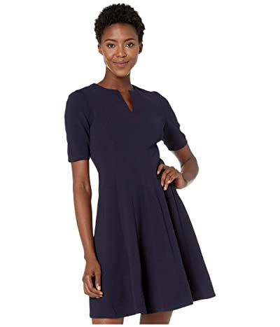 Maggy London Metro Knit Fit and Flare Dress (Navy) Women