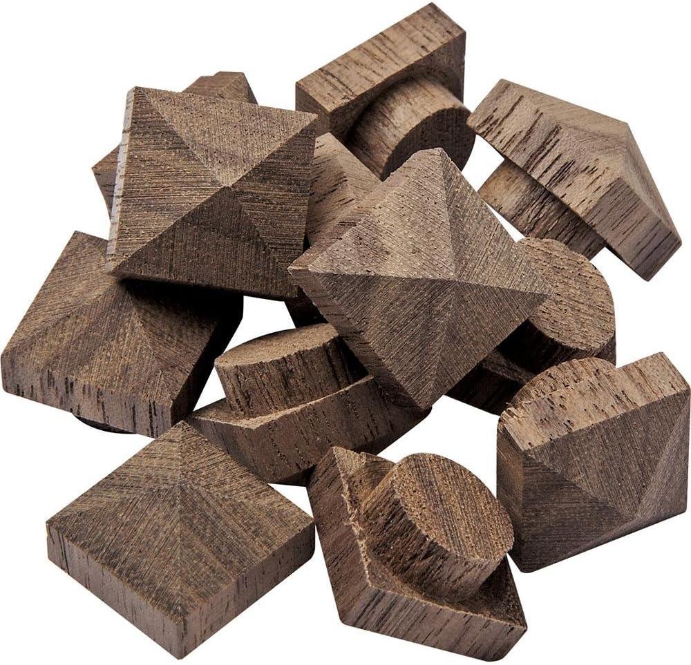 "Walnut Large Low Profile Pyramid Top Hole Plugs fit a 1//2/"" hole"