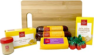 Hickory Farms Meat and Cheese Gift Baskets Farm House Collection With Exclusive Bamboo Cutting Board Bundle - 1.43 lbs Chr...
