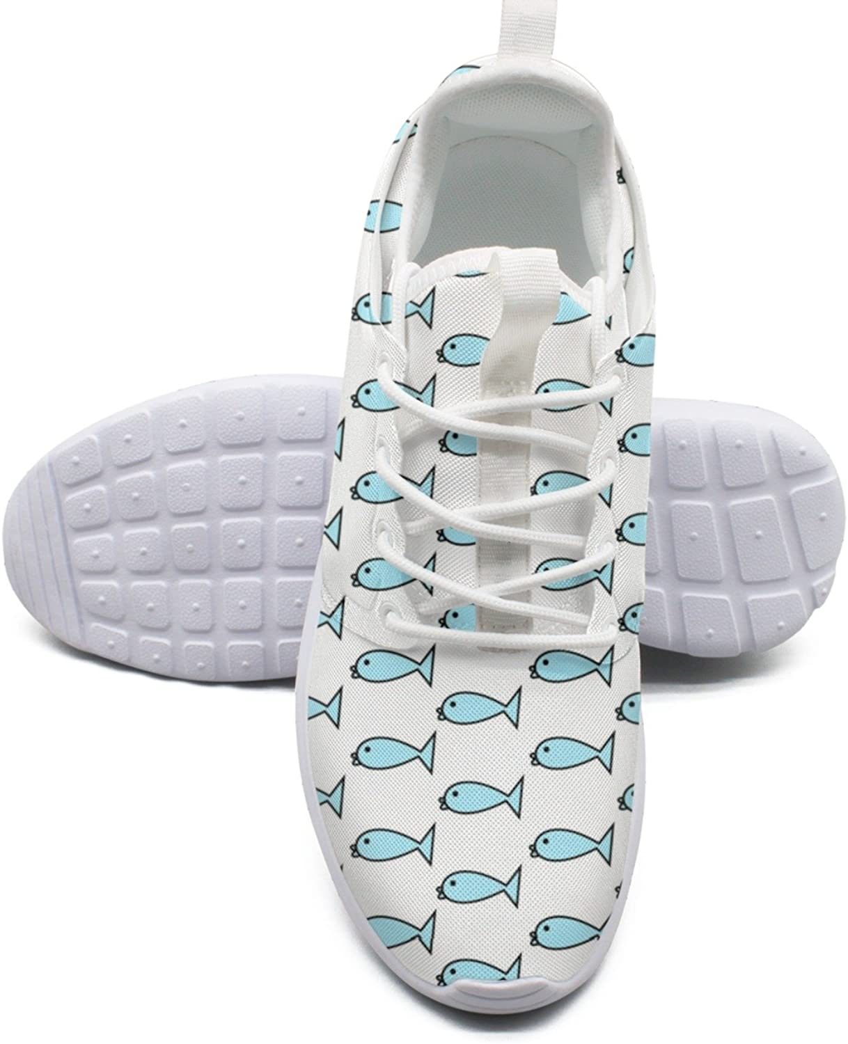 Women's Fashion Lightweight Basketball Sneakers Cute Fish Pattern Original Athletic shoes