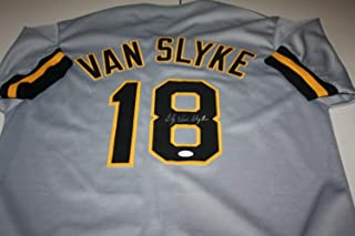 Pittsburgh Pirates Andy Van Slyke #18 Autographed Signed Custom Road Jersey JSA Cert