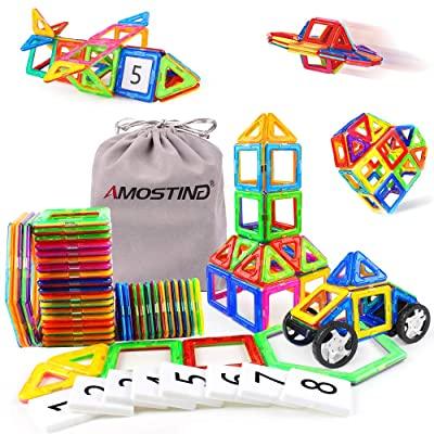 AMOSTING Magnetic Tiles Building Block Educational Toys