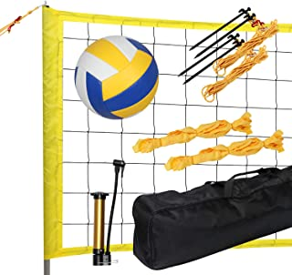 KAC Portable Volleyball Sets, Outdoor Volleyball Net System for Outdoor Beach Backyard, FIVB Nets Standard with Height Adj...