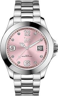 Ice-Watch - Ice Steel Light Pink With Stones - Montre Argent pour Femme avec Bracelet en Metal - 016776 (Medium)