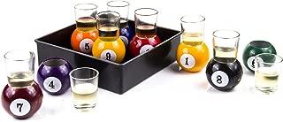 Innovia Imports 4897056740617 Pool Ball Shot glasses, Multicolor