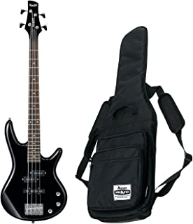 Ibanez GSR Mikro Compact Electric Bass Guitar (Black) w/ Free Ibanez Gig Bag