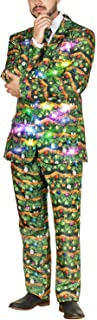 Men's Ugly 3 Piece LED Light Up Christmas Sweater Suit