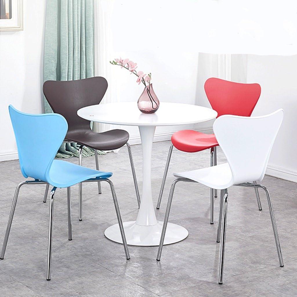 JHEY Dossier en Acier Inoxydable Chaise Moderne Minimaliste en Fer forgé Chaise Restaurant Mode Créative Chaise Papillon Maison à Manger Chaise (Color : B) B