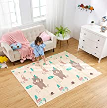 Infant Shining Baby Play Mat, 4'8''x6'4'',Foldable Play Mat, Waterproof and Antislip Rug (Bear&Koala, 4'8''x6'4'')