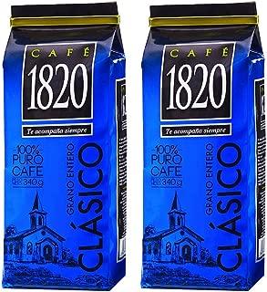 Cafe 1820 Grano Entero Costa Rica Gourmet Whole Bean Coffee (340 Gr), 12 oz., 2 Count