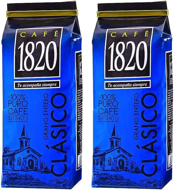 Cafe 1820 Grano Entero Costa Rica Gourmet Whole Bean Coffee 340 Gr 12 Oz 2 Count