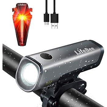 Toptrek Fahrradlicht Set StVZO zugelassen LED Fahrradbeleuchtung Batteriebetrieb