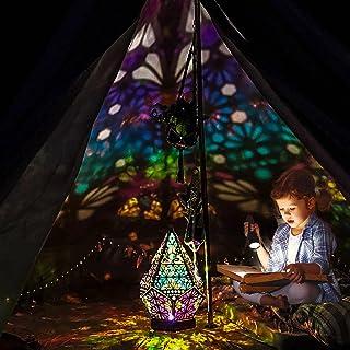 EUNEWR Lampadaire bohème,lampe de projection de sol ciel étoilé bohème,grand lampadaire étoile polaire - LED diamants colo...