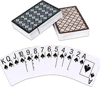 Teskyer Playing Cards, 100% Waterproof Plastic Playing Cards, Poker Size, Large Print Jumbo Index
