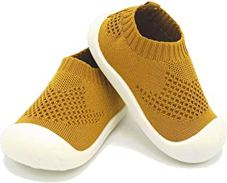 Zyernar Baby First-Walking Shoes Kid Shoes Trainers Toddler Infant Boys Girls Soft Sole Breathable Lightweight Sneakers