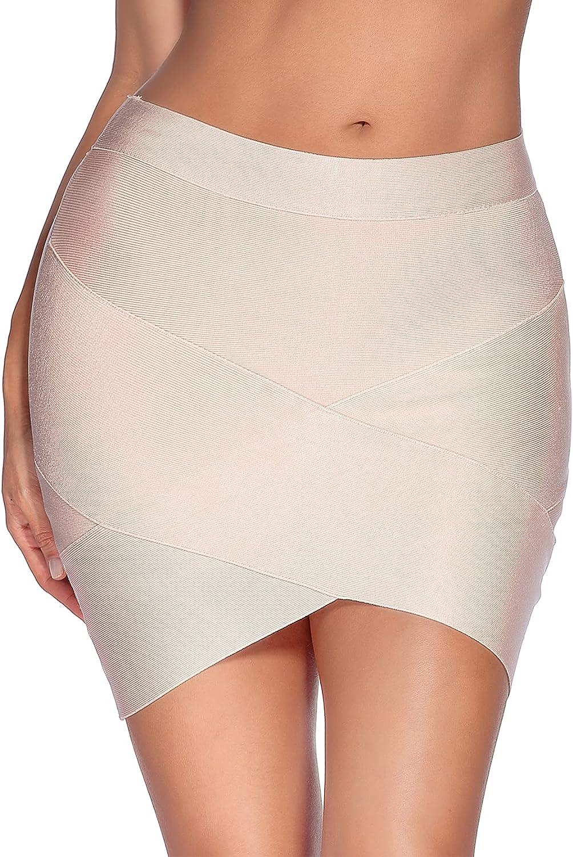 Madam Uniq Women's Sexy Stretch Bandage Bodycon Party Tube Mini Skirt