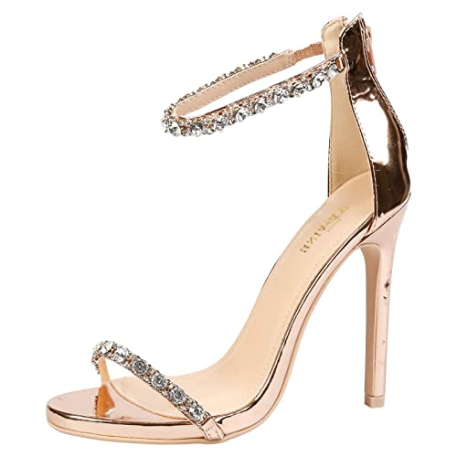 online shop cheap sale promo codes Rose Gold High Heels: Amazon.co.uk